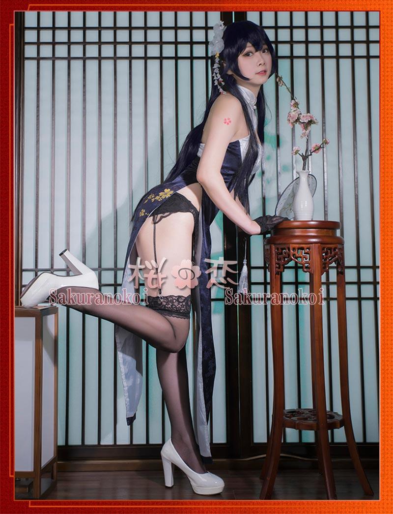 アズールレーン Azur Lane 吾妻 チャイナドレス 風 コスプレ衣装 イベント パーティー コスチューム 変装 hhc1088