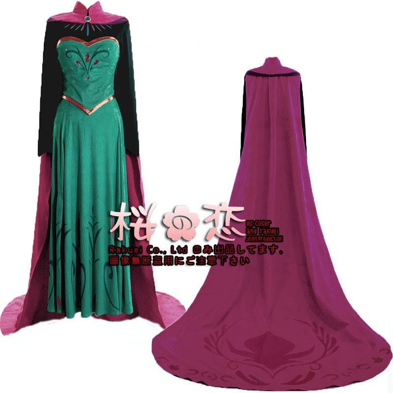 コスプレ衣装『ディズニー プリンセス風 Frozen白雪姫 ELSA ドレス』ディズニーFROZEN【アナと雪の女王 風 ドレス】 アナの姉 エルサ 風/豪華ドレス
