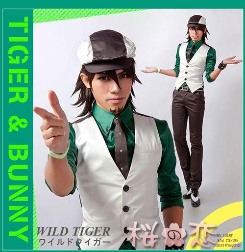コスプレ衣装/TIGER&BUNNY 風 ワイルドタイガー風 /tjt01