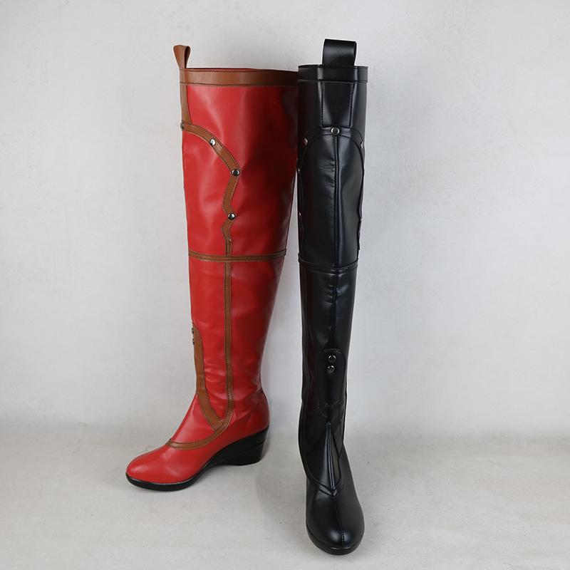 【スーサイド・スクワッドSuicide Squad】 ハーレイ・クイン Harleen Quinzel 風 コスプレ ブーツ 靴 /cz233
