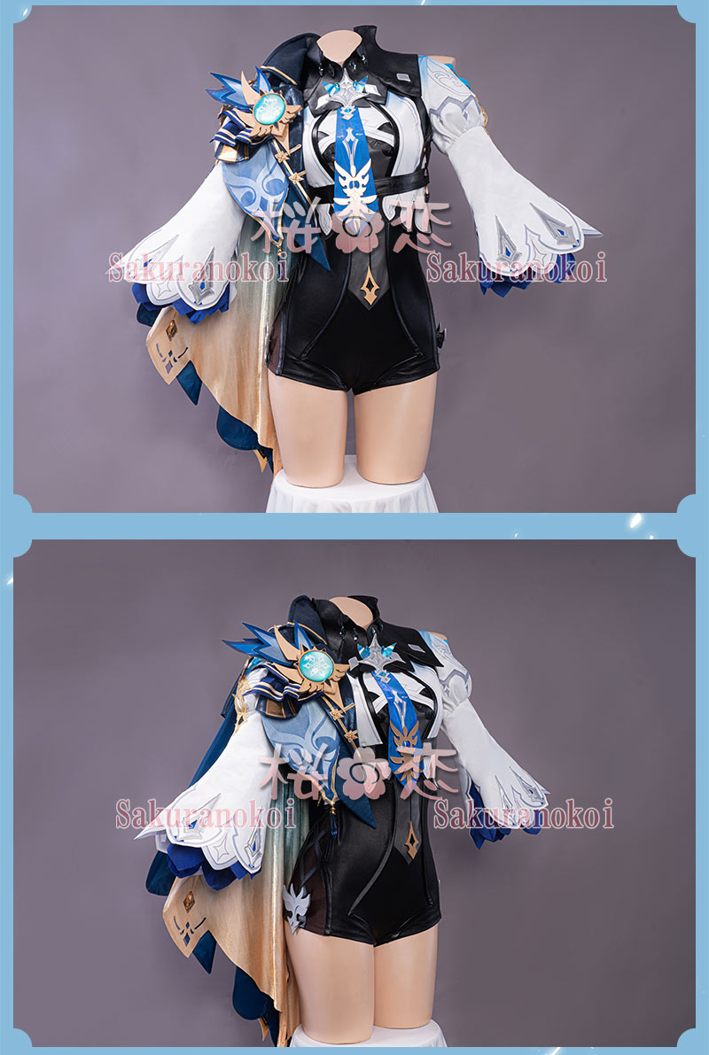 原神 げんしん genshin Eula ユーラ エウルア 衣装 cosplay イベント パーティー コスチューム 変装 仮装 uw1490