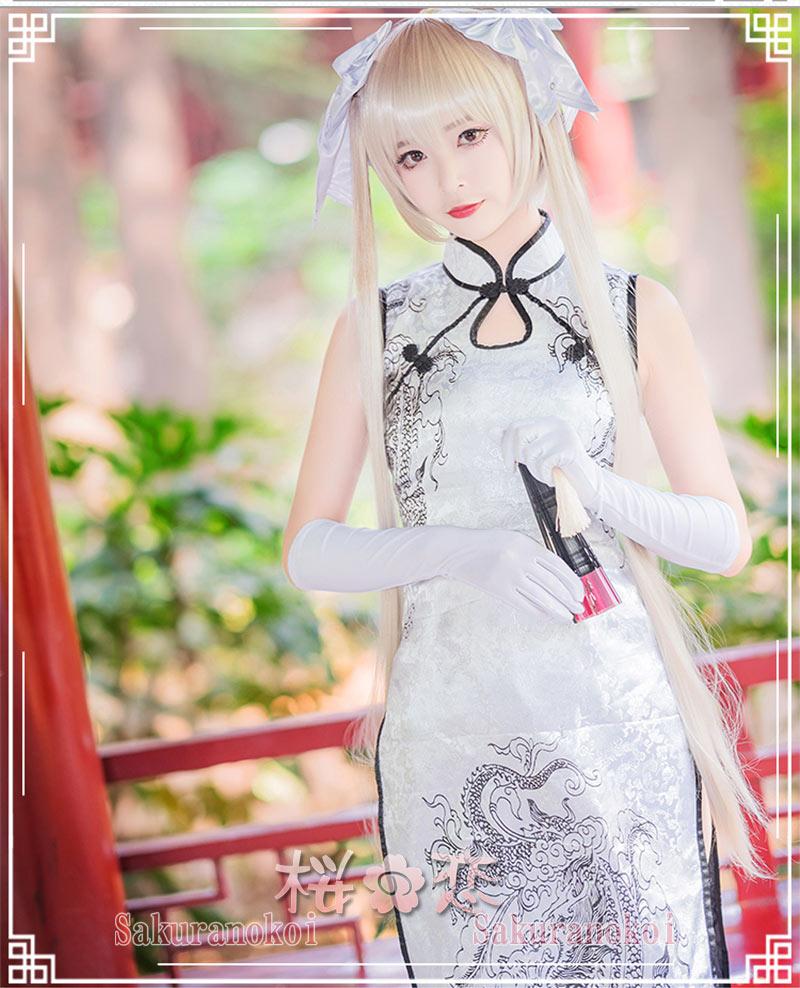 ヨスガノソラ!縁の空 風 春日野 穹 かすがの そら 風チャイナドレス 風 コスプレ衣装 イベント コスチュームscm028