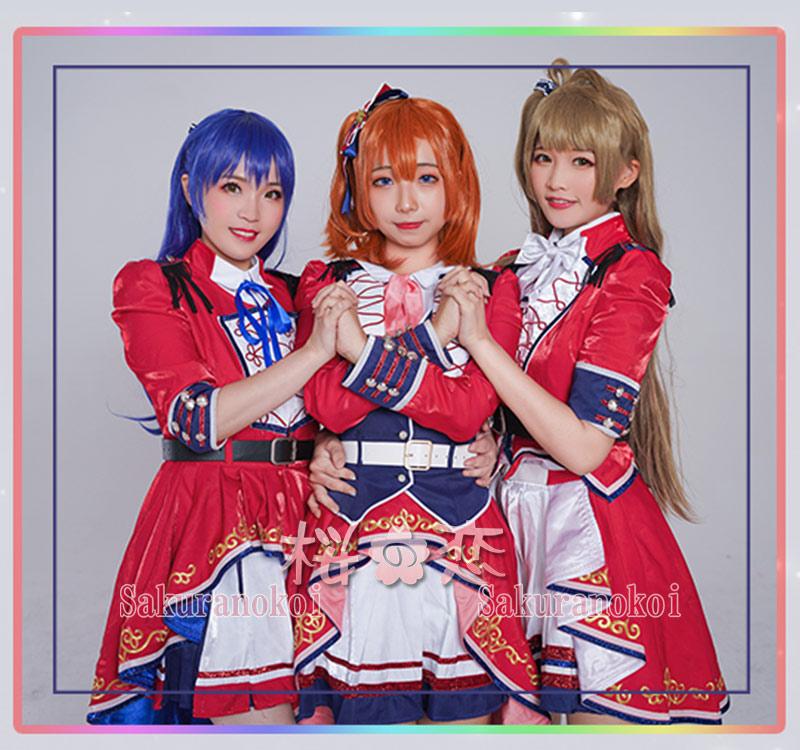 LoveLive! Series 9th Anniversary ラブライブ!フェス μ's 園田海未 (そのだ うみ) 風 コスプレ衣装 y2767