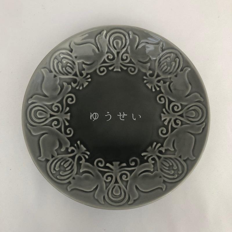 「器 花鳥風月」小皿(グレー)