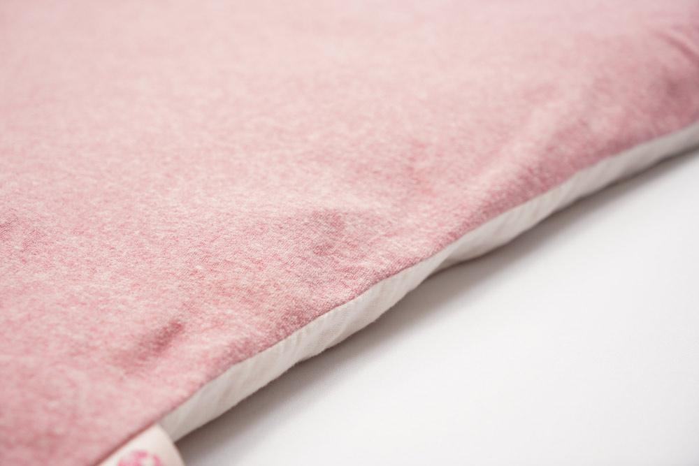 【セット】ぐっすり座布団本体&専用カバー(ピンク)