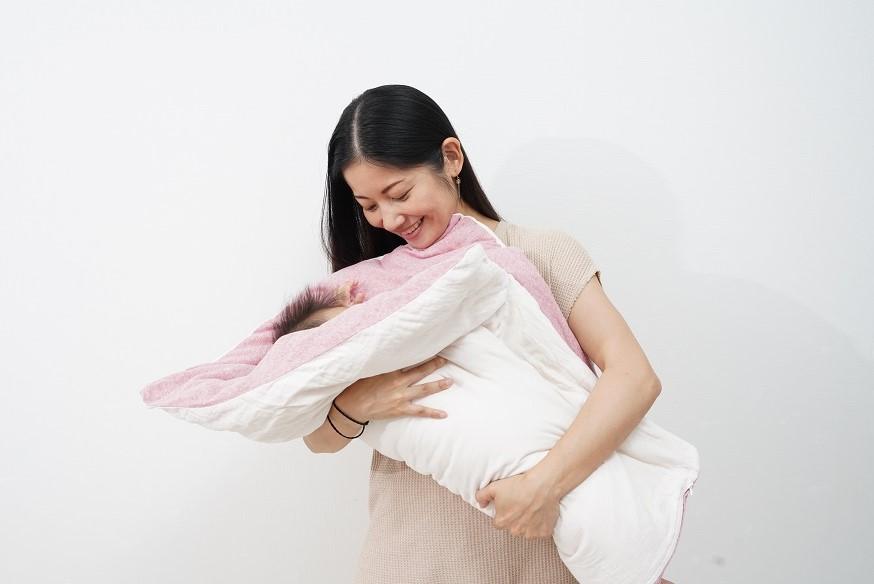 【セット】まんまる枕(アイボリー)とぐっすり座布団本体&専用カバー(ベージュ)
