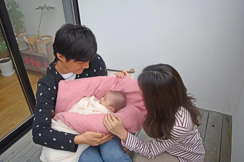 【セット】ぐっすり座布団本体&専用カバー2色(ベージュ&ピンク)