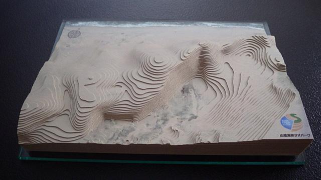 【砂丘会館オリジナル】等高線積み上げモデル「鳥取砂丘」1/4000