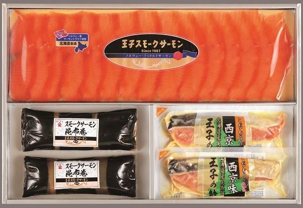 スモークサーモン・漬魚・昆布巻詰合わせ HKT50(W)A