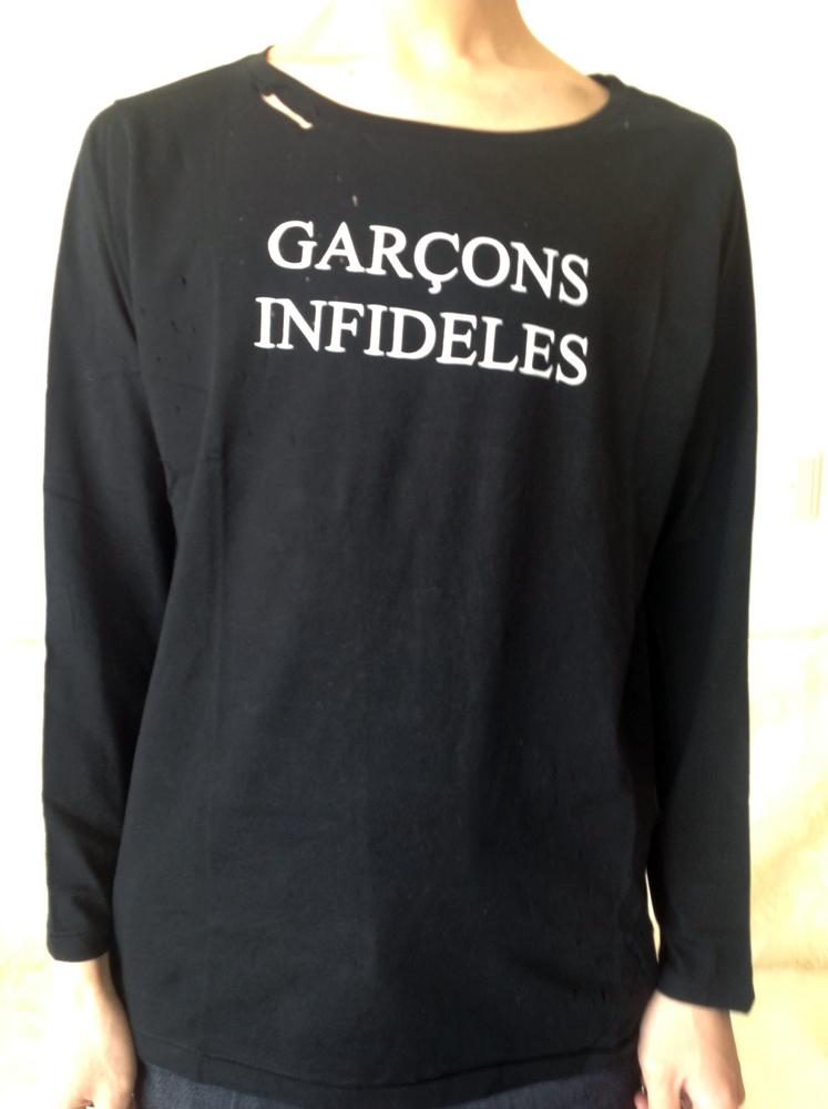 GARCONS INFIDELES SIDNEY (WHITE)(BLACK) ギャルソンインフィデレス デストロイロングT シドニー 2カラー入荷