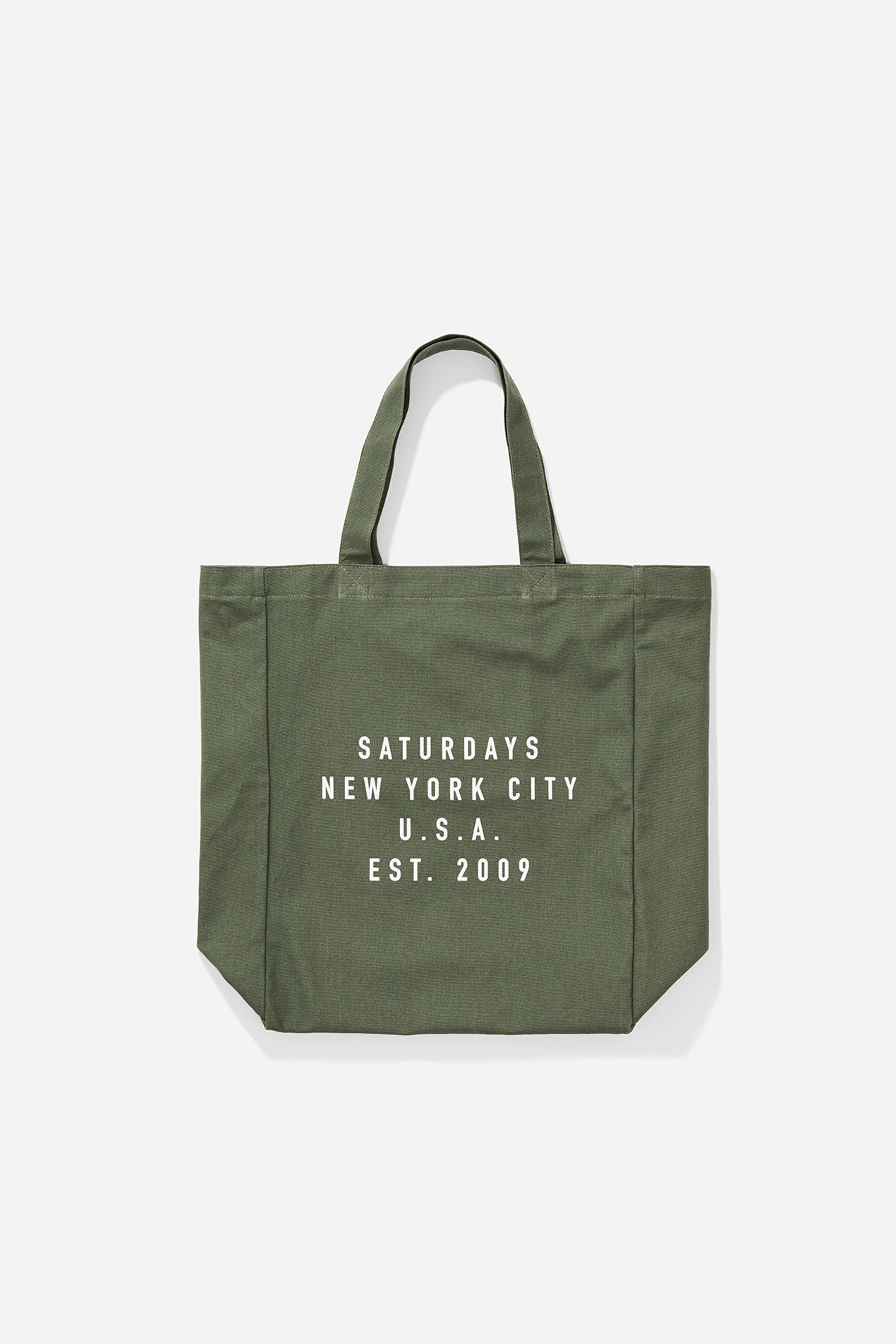 SPRING 2018 SATURDAYS NEW YORK CITY ESTABLISHED USA TOTE / サタデーズサーフ USA エスタブリッシュ ロゴトートバッグ (KHAKI)