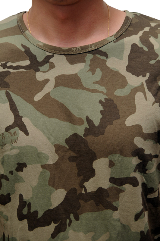 THE WHITE BRIEFS CAMO TEE by NICK WOOSTER  / ザ ホワイトブリーフス カモフラージュティ