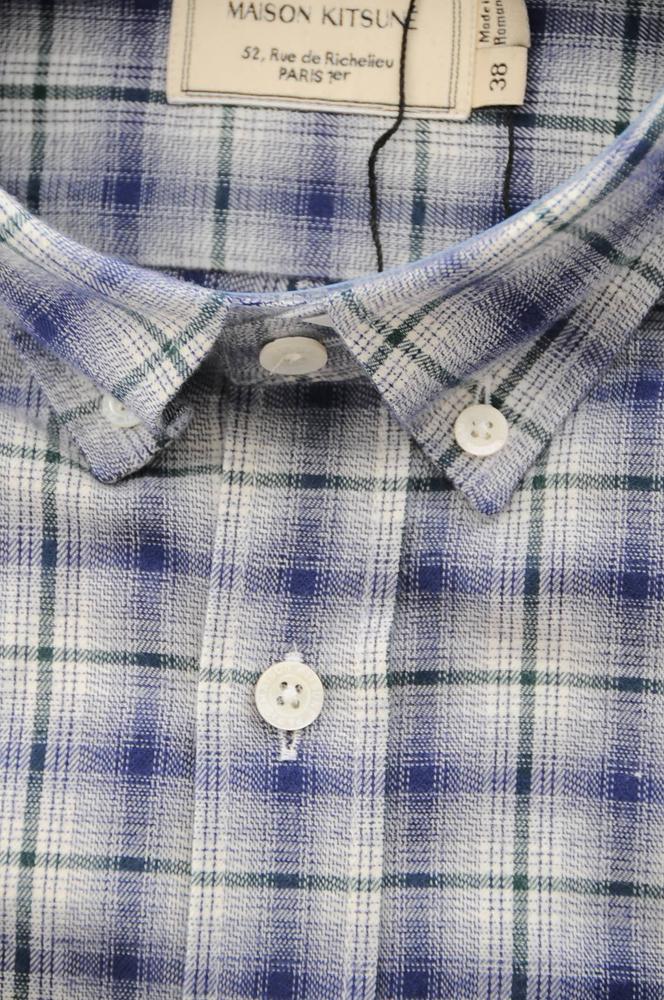 MAISON KITSUNE CHECK  B.D SHIRT (G) / メゾンキツネ チェックシャツ