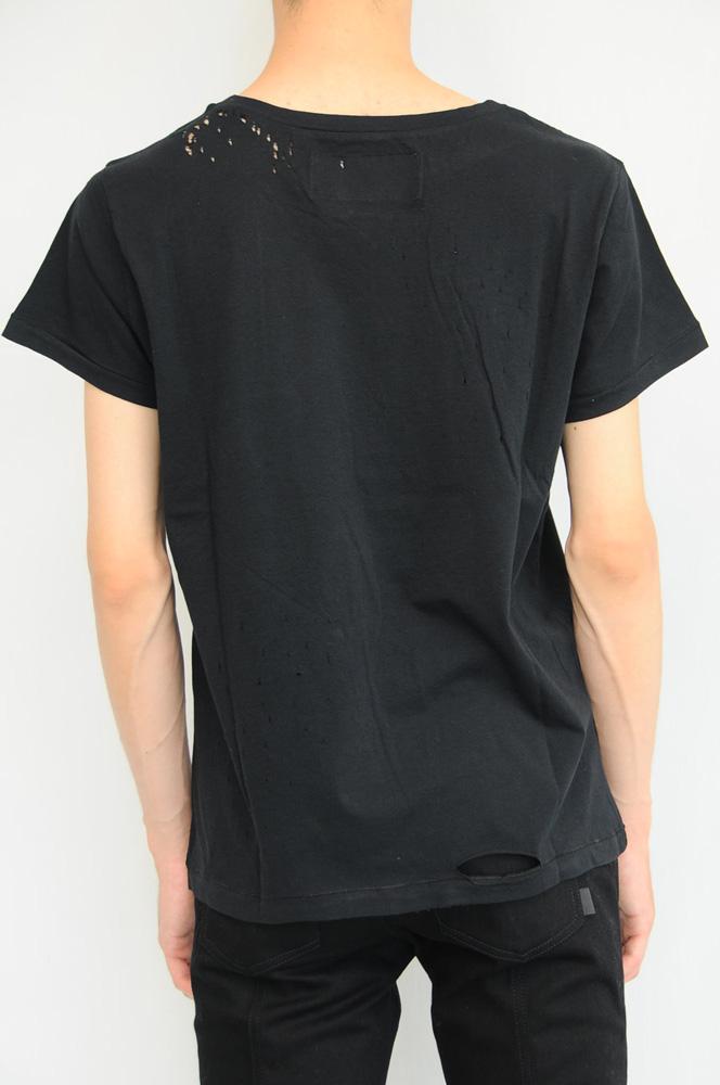 GARCONS INFIDELES DESTROYED TEE (BK) ギャルソンインフィデレス デストロイTシャツ