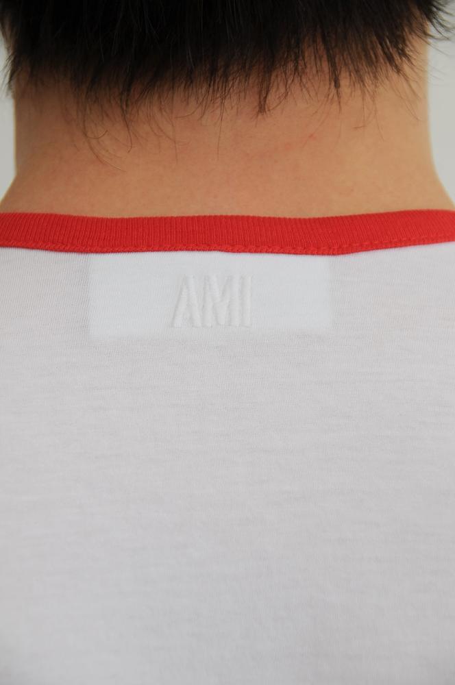 AMI CREW NECK FLOCKING LOGO TEE  / アミ フロッキングロゴティ (3カラー入荷 GREEN/RED/BLACK)
