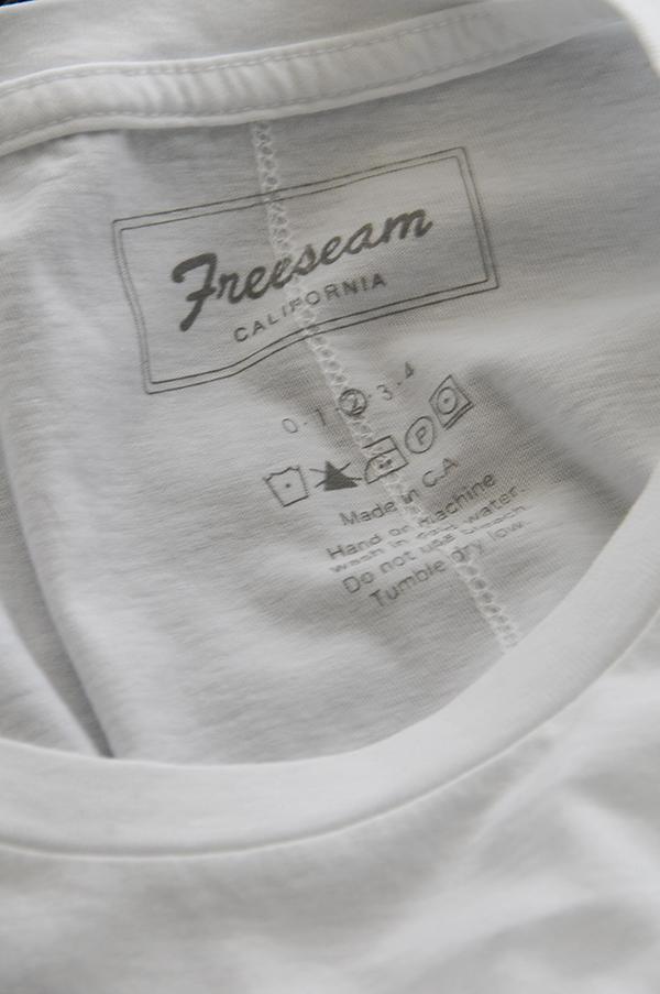 Freeseam R PKT TEE   フリーシーム ラウンドネックティ (WHITE)