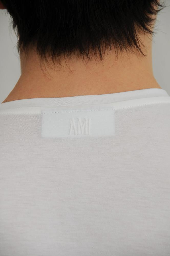 AMI CREW NECK POCKET TEE  / アミ クルーネックポケットティ (/BLACK)