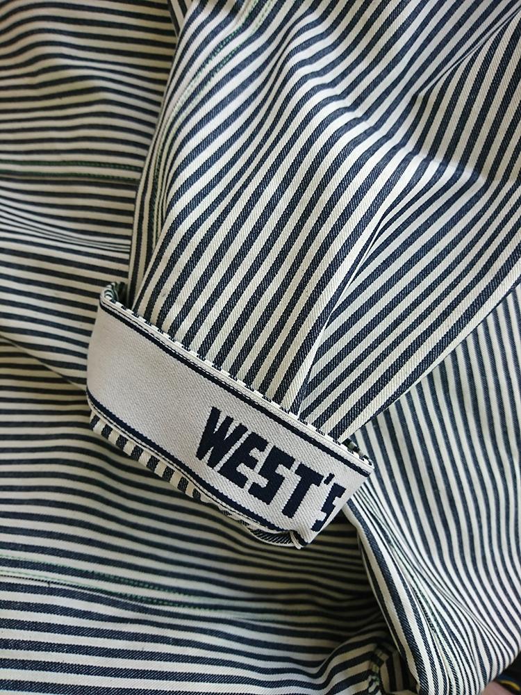 WESTOVERALLS HICKORY DENIM R-L TAILORALL JACKET (W/N) / ウエストオーバーオールズ リバーシブルジャケット ヒッコリー