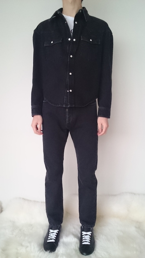 BALENCIAGA SLIM FIT DENIM / バレンシアガ メンズ スリムフィットデニム (W BLACK)