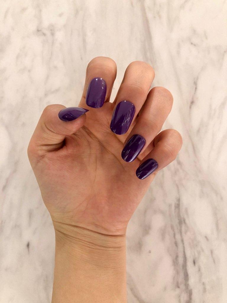 【ワンタッチネイル】推し事ネイル☆紫