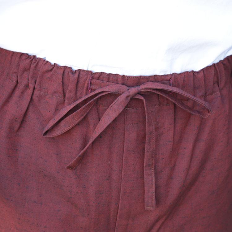 遠州本綿紬作務衣 色彩(濃紺・赤紫・薄茶・灰色)(S-LL)