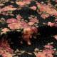 小花柄 ベロア作務衣(M-L)