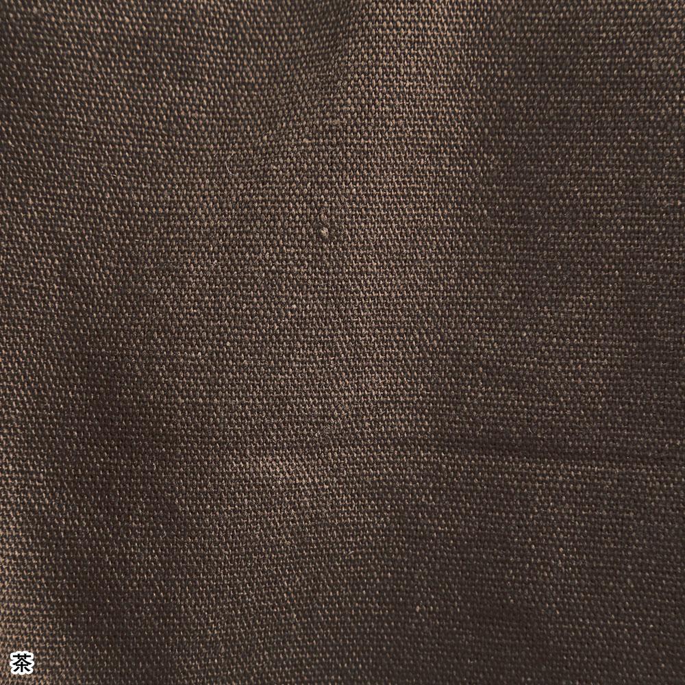 創作木綿作務衣(茶・灰)(M-LL)