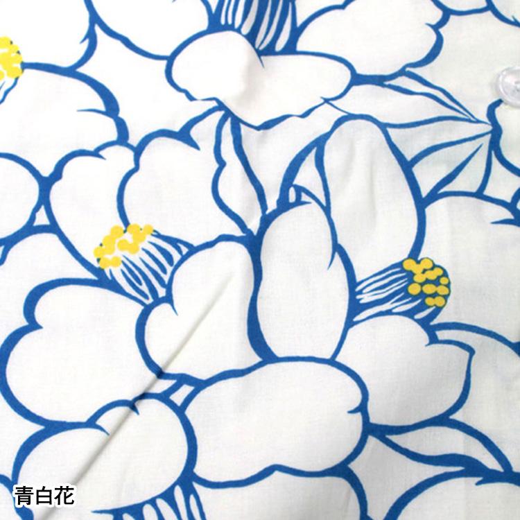 和柄パジャマボタン(青とんぼ・青白花・ピンク桜)(M-L)