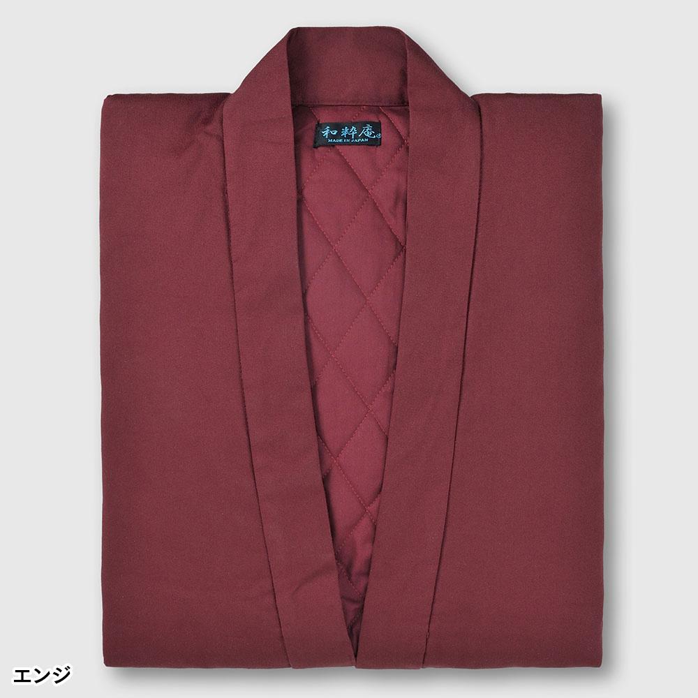 女性用綿入りキルト作務衣(ピンク・エンジ)(M-L)