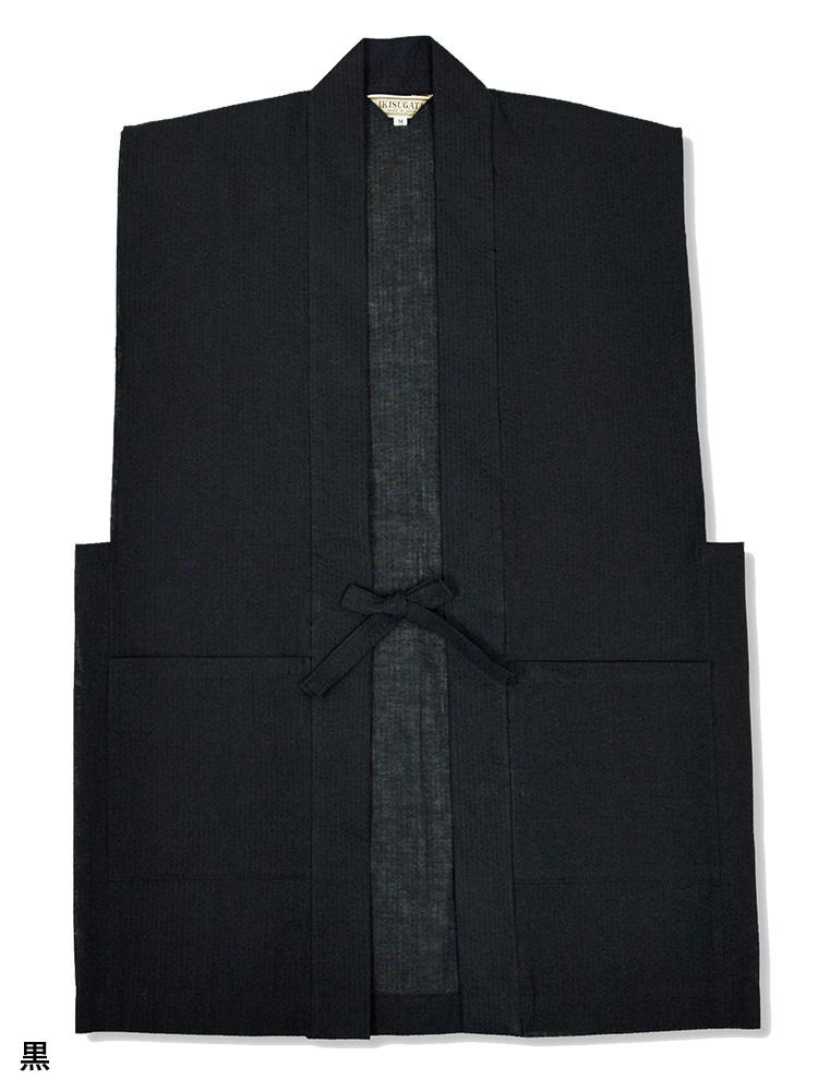 綿麻しじら織羽織 涼風(グレー・紺・黒)(M-LL)