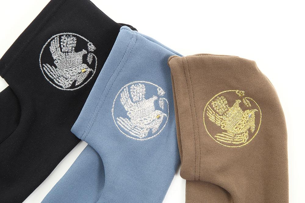 刺繍入りストレッチ足袋 男性用(鷲×ブルー・鷲×茶・鷲×黒・鷹×ブルー・鷹×茶・鷹×黒)(F)