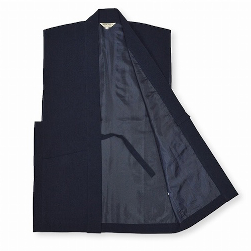 たてスラブ羽織(濃紺・グレー・茶・グリーン・黒)(M-LL)