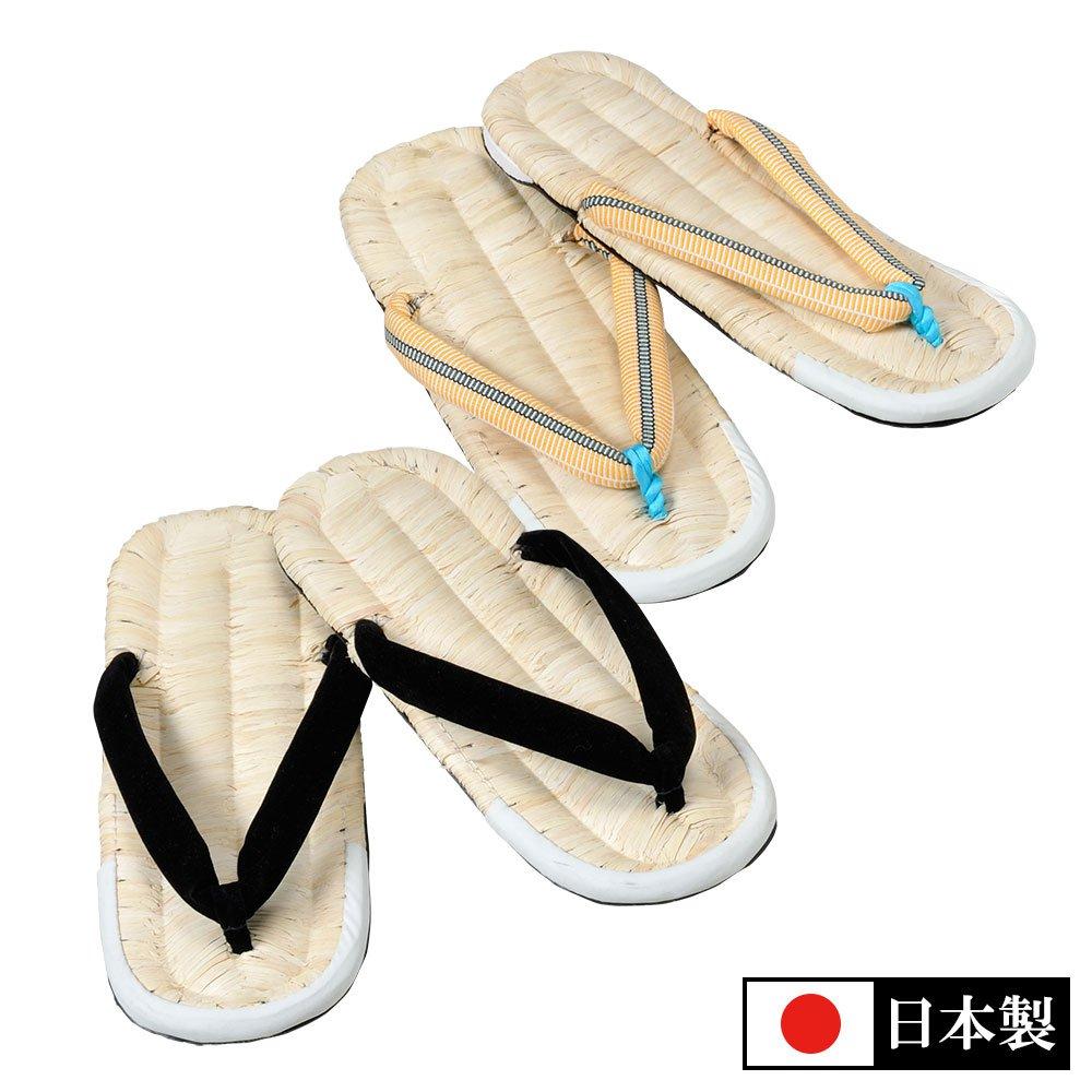 唐黍タイヤ底草履(黒・柄)(L-LL)