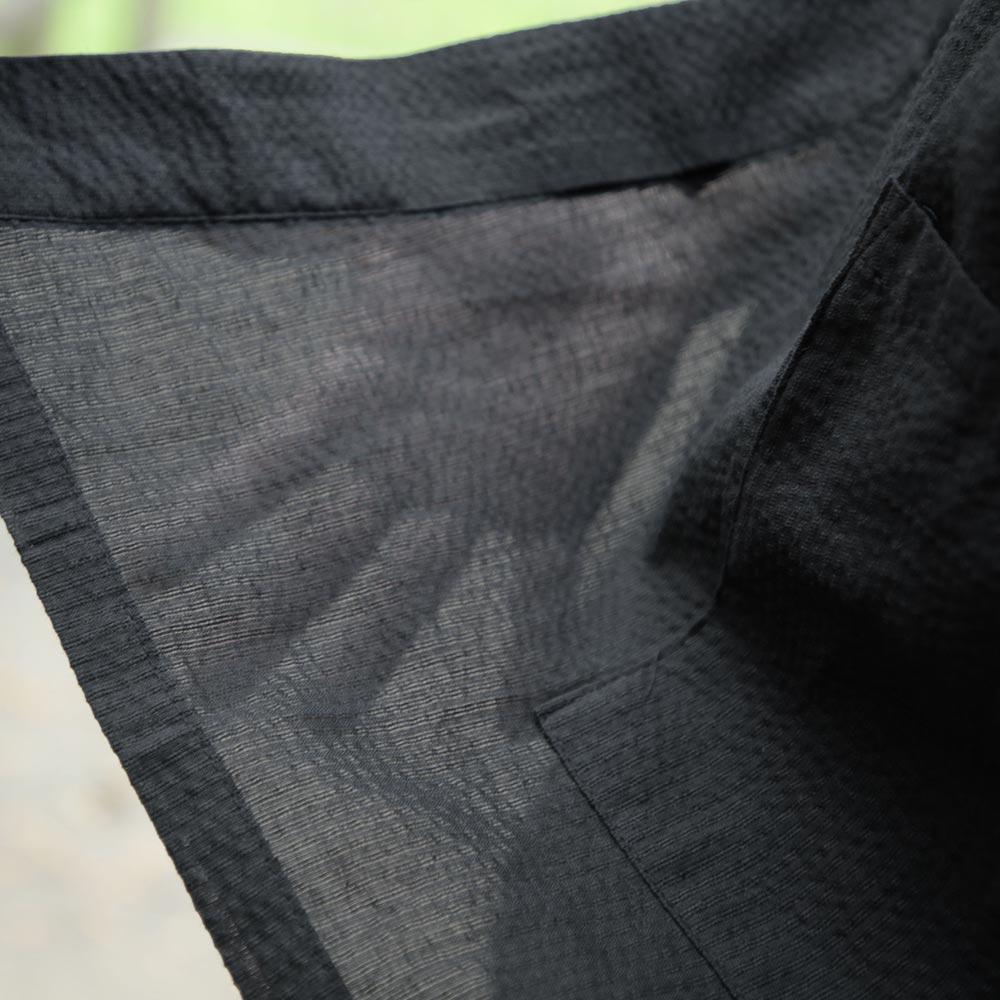 麻混しじら織さわやか作務衣(ブルー・グレー・ブラック)(M-LL)