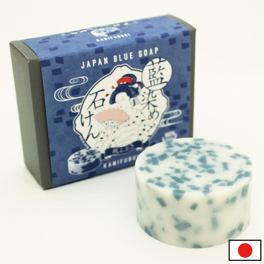 しっとり洗いあがる藍染石鹸 紙ふぶき