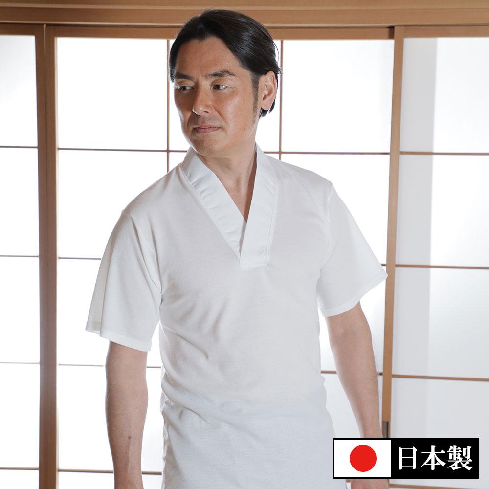 メッシュTシャツ半襦袢 袖あり(M-LL)