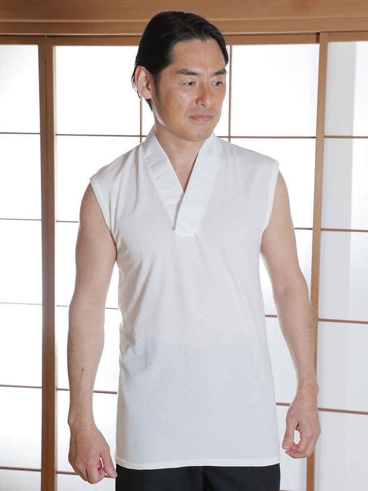 メッシュTシャツ半襦袢 袖なし(M-LL)