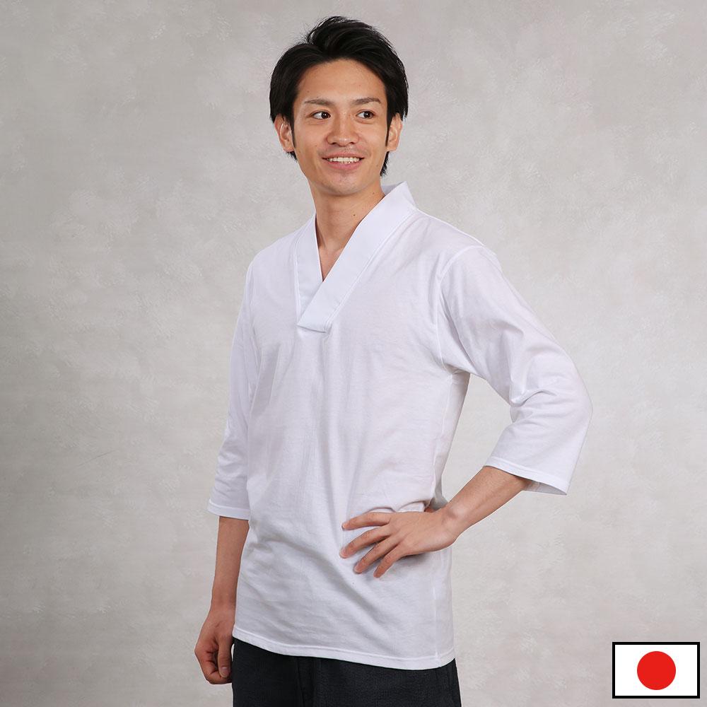 Tシャツ半襦袢(七分袖)(M-LL)