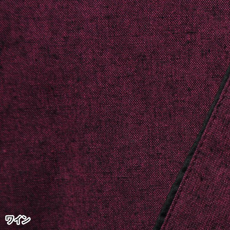 おもむき綿紬作務衣(ネイビー・マスタード・ワイン)(S-3L)