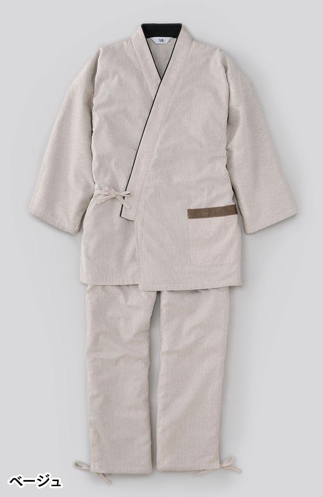 おしゃれ裏フリース作務衣(ベージュ・黒・紺)(M-5L)