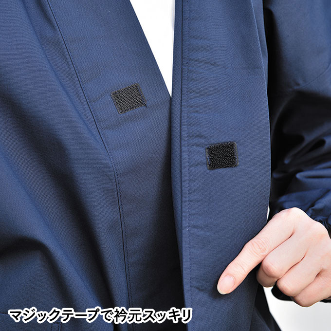 丈夫で着やすい女性用さむえ(濃紺・黒)(S-LL)