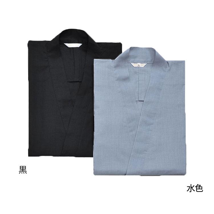 テト麻作務衣(うす茶・紺・こげ茶・ベージュ・黒・水色)(M-LL)