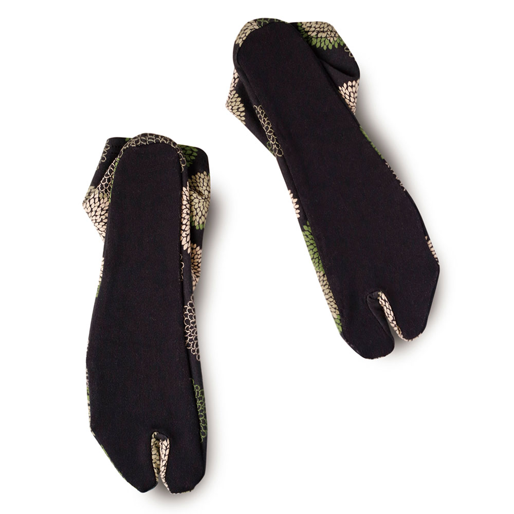 足袋ソックス(ブラック桜・ブラック菊)(25-27cm)