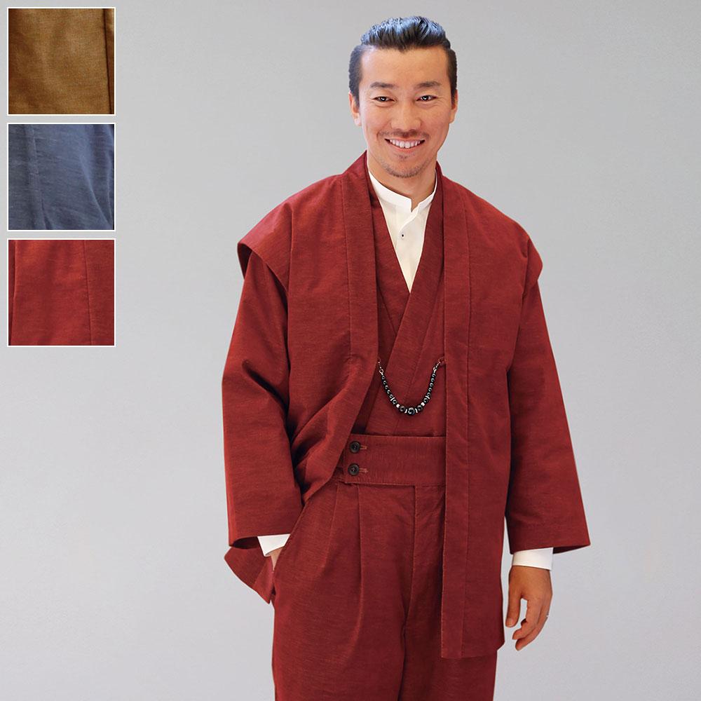 着物スーツ 綿の門 別珍ストレッチ(レッド・ネイビー・ベージュ)(M-LL)