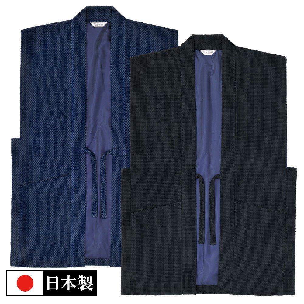 地厚刺子織羽織(濃紺・黒)(M-LL)