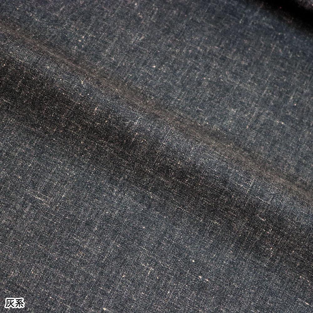 しなやかで着やすいポリ麻作務衣(茶系・灰系)(M-L)