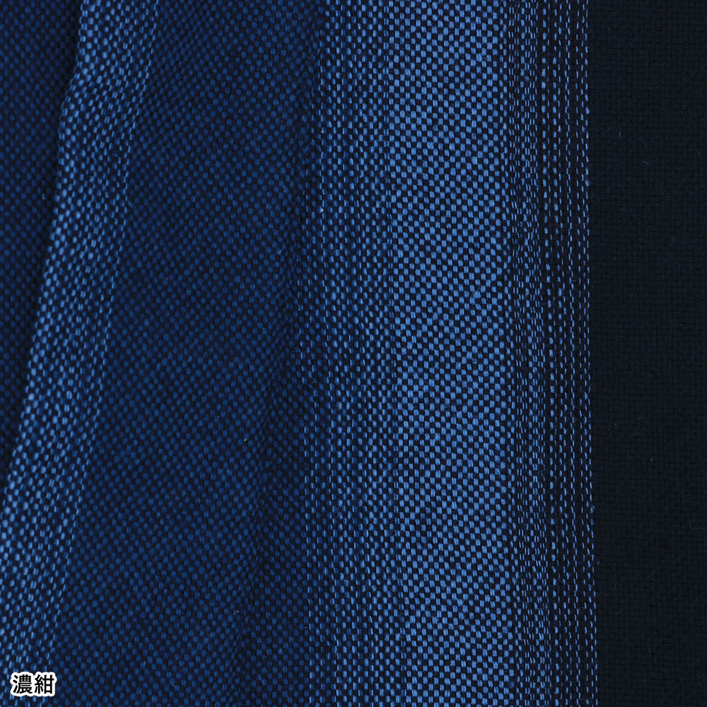 遠州 鰹縞柄オックス作務衣(濃紺・青)(M-LL)