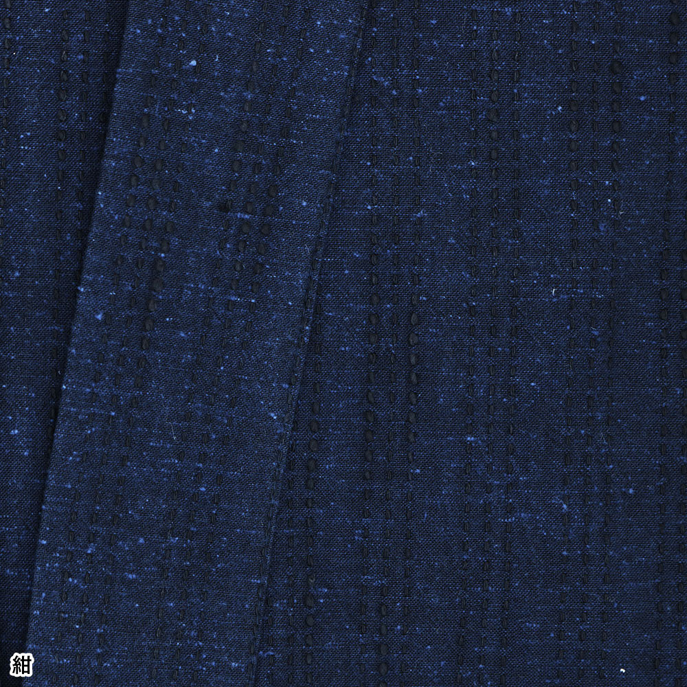 遠州 ネップ刺子織作務衣(灰・黒・紺)(M-LL)