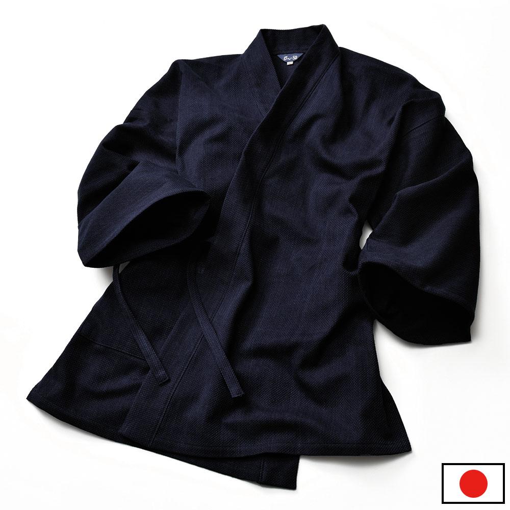 伝統の武州正藍染め刺子作務衣 夢想(M-LL)