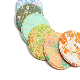 「金彩職人手作り」侍魂 着物地こーすたー零 侍魂×日本伝統京都金彩工芸品 繰り返し使える仕様(Kimono coaster)